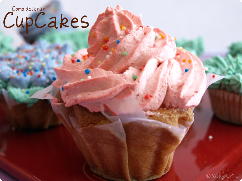 Hoy os contamos cono decorar CupCakes - VelocidadCuchara.com
