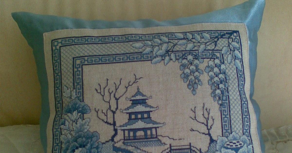 Вышивка подушек в японском стиле