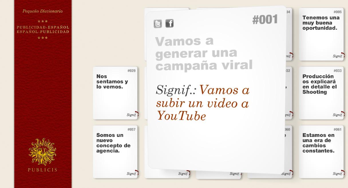 Diccionario Publicidad