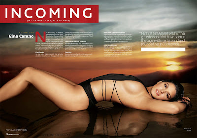 My Gina Carano story in the March issue of Maxim
