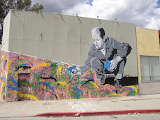Jackson Pollock Mural on La Brea Blvd. in LA