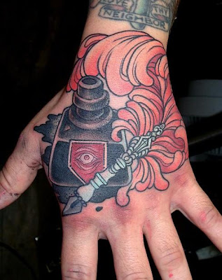 This is pretty much one of all favourite hand tattoo i 39ve seen in a while