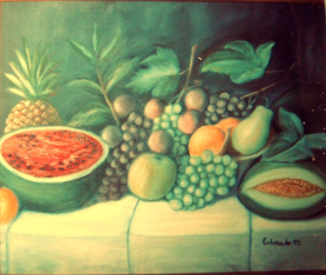 TUTI FRUTI. OIL PAINTING.