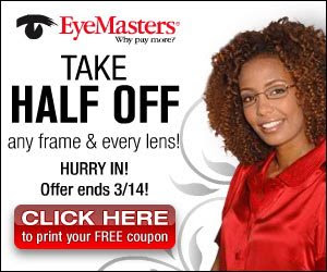 Eyemasters eye exam coupons