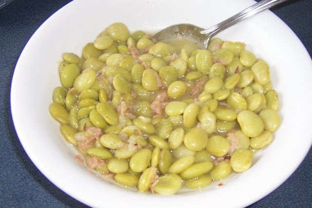 fresh lima beans recipe with ham