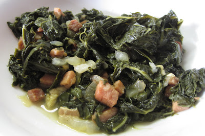 kale with ham and onions recipe