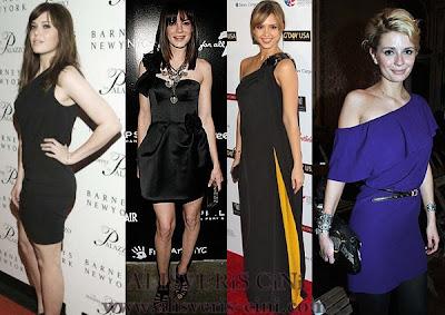 ünlüler ve tek omuz elbiseleri