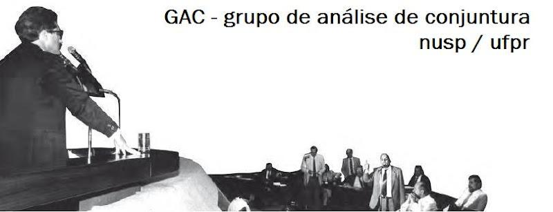 GAC - grupo de análise de conjuntura - nusp/ufpr
