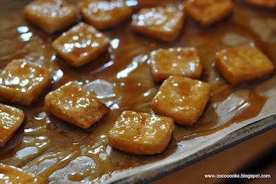 Coco Cooks: Warm BBQ Crispy Tofu Buckwheat Soba & Arugula Salad