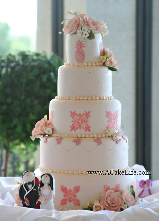 Darsie Kais Hawaiian Inspired Wedding Cake A Cake Life