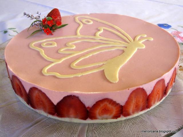 Tarta de yogurt y fresas receta por menorcana petitchef - Mouse de yogurt ...