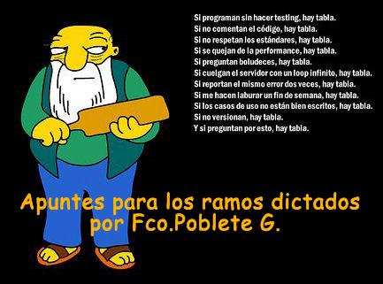 Apuntes para los ramos dictados por Fco. Poblete Gutierrez