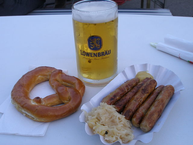 bratwurst beer oktoberfest food   drink