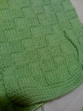 my green basket weave scarf