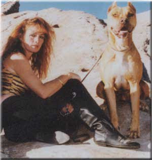 tia maria torres and ugly dog