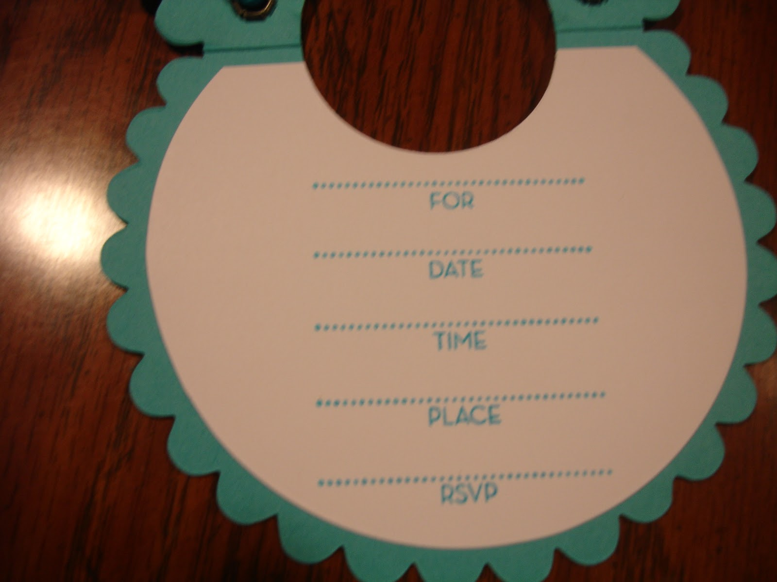 Baby Bib Card And Rattle Party Favor