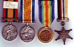 Henry's medals, reverse side, note the Africaans inscription on the Victory medal.