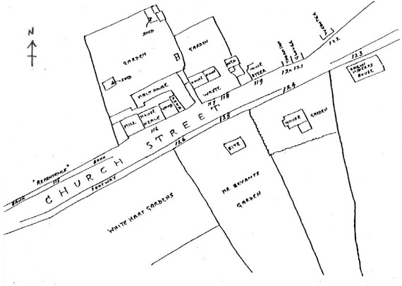 Plan of Church Street Brewery, taken from Bryant's Survey 1786.