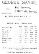 Trade Advertisement of George Sayer, Astead c1895