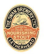 Nourishing Stout label of the Swan Brewery, Letherhead, c1920