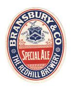 Bransbury & Co's Special Ale label c1906-1913