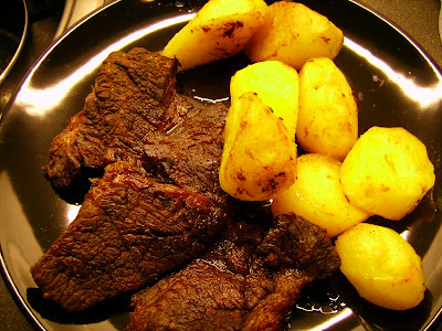 grilled-braised beefwith potatoe