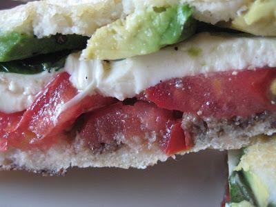 ... Bountiful Kitchen: Pressed Mozzarella, Tomato and Fresh Basil Sandwich