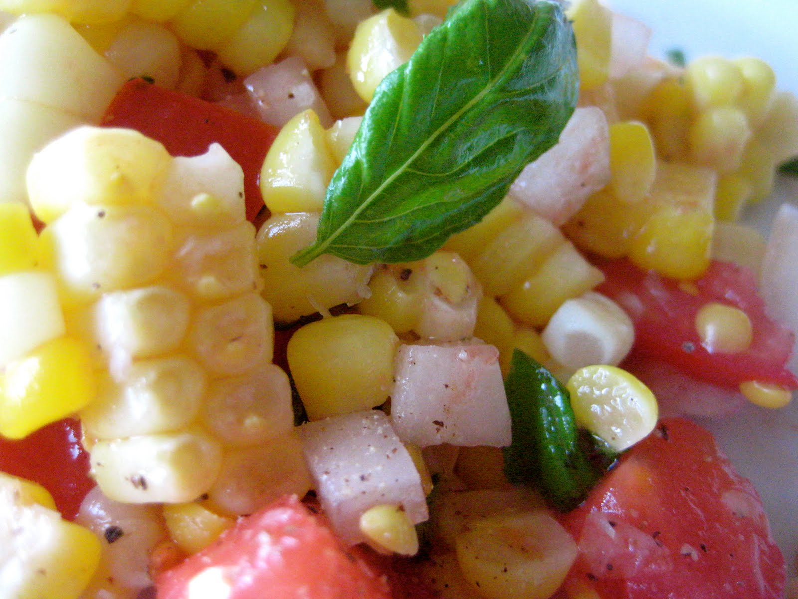 Fresh Corn and Tomato Salad - A Bountiful Kitchen