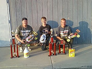 Adam Drake, Chad Nevin and Jim Pierce at the 2008 Kyosho Fall Classic