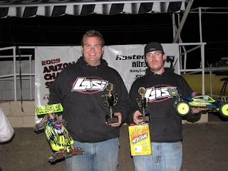 In the Expert Buggy A-main event Billy Fischer was able to bring home the victory with Losi teammate Mike Friery finishing up in 2nd.