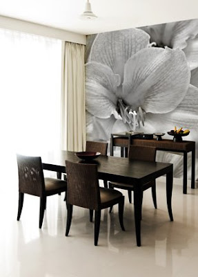 Benedetina Dining Rooms With Wallpaper - Dining room decorating ideas wallpaper