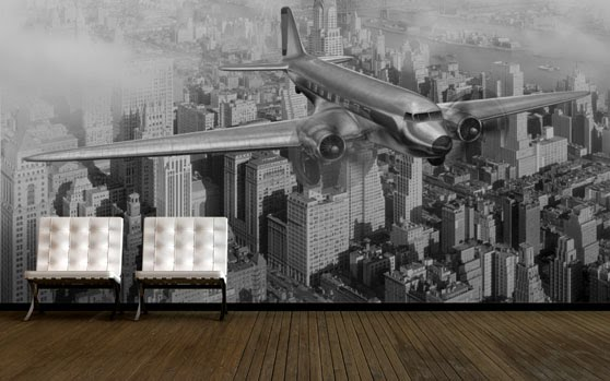 Custom wallpaper inspiration using vintage images for for Custom wall photo mural