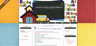 Leelou+Blogs+school+zone+3+column Freebie Friday: Cute Blogger Templates
