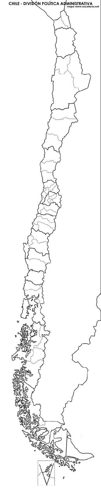 Mapa Mudo Politico De Chile Para Colorear