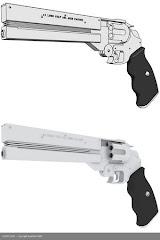.45 Caliber Silver Revolver