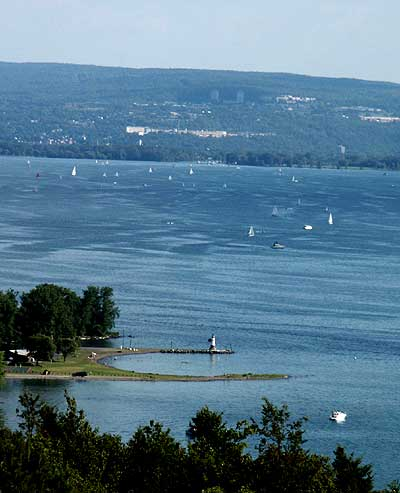 Leaving california and other states of mind a pirate 39 s for Cayuga lake fishing