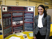 Kristina Kay Lindsey and her poster exhibit