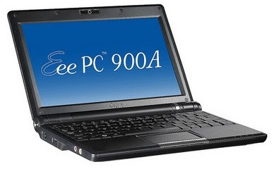 asus eee pc 900 notebook with 1.6ghz atom processor