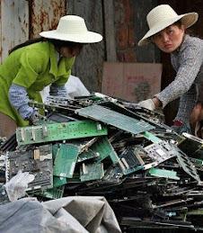 desperdicios electronicos de PC en laciudades y campos