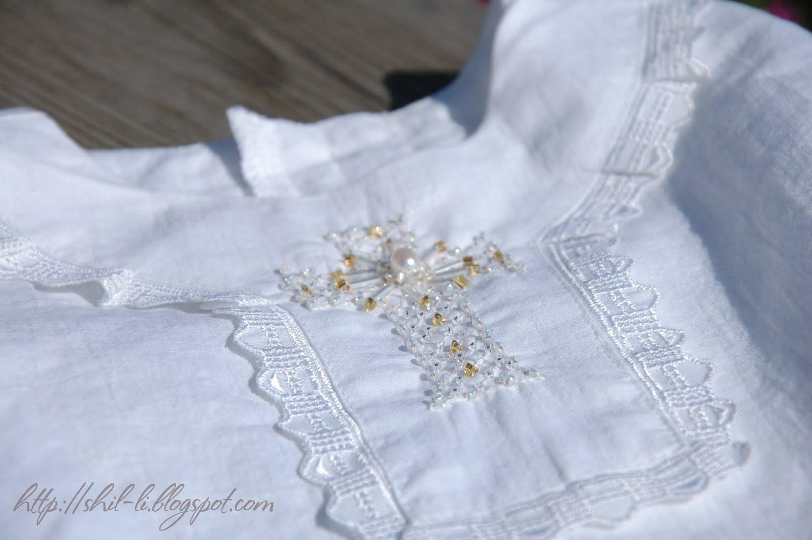 Вышивка на крестильной рубашке девочке 45