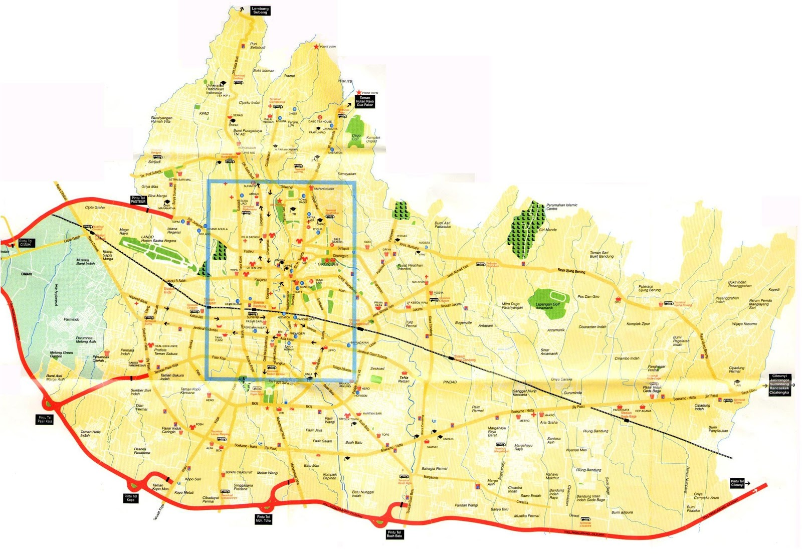 Map of bandung city indonesia amazing indonesia sciox Gallery
