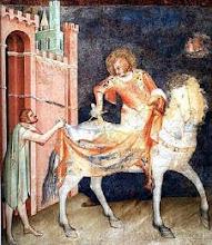 San Martino divide il mantello - Basilica inferiore di Assisi