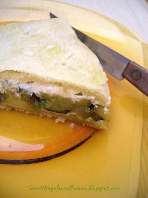 Focaccia con zucchine e robiola