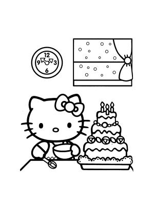 Hello kitty da colorare on line
