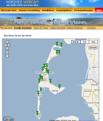 240 Webcams an der Nordsee