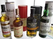 whisky bottles