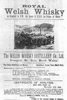 welsh whisky poster