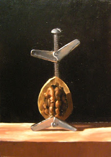 Daily Painting, Oil, Still Life, Nuts and Bolt