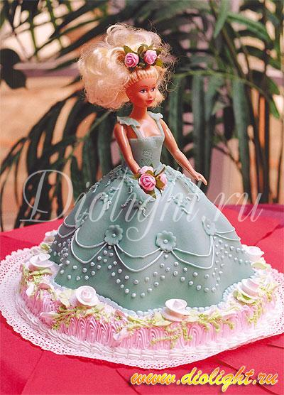 Торт украшение куклы