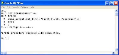 How to write print statement in plsql script